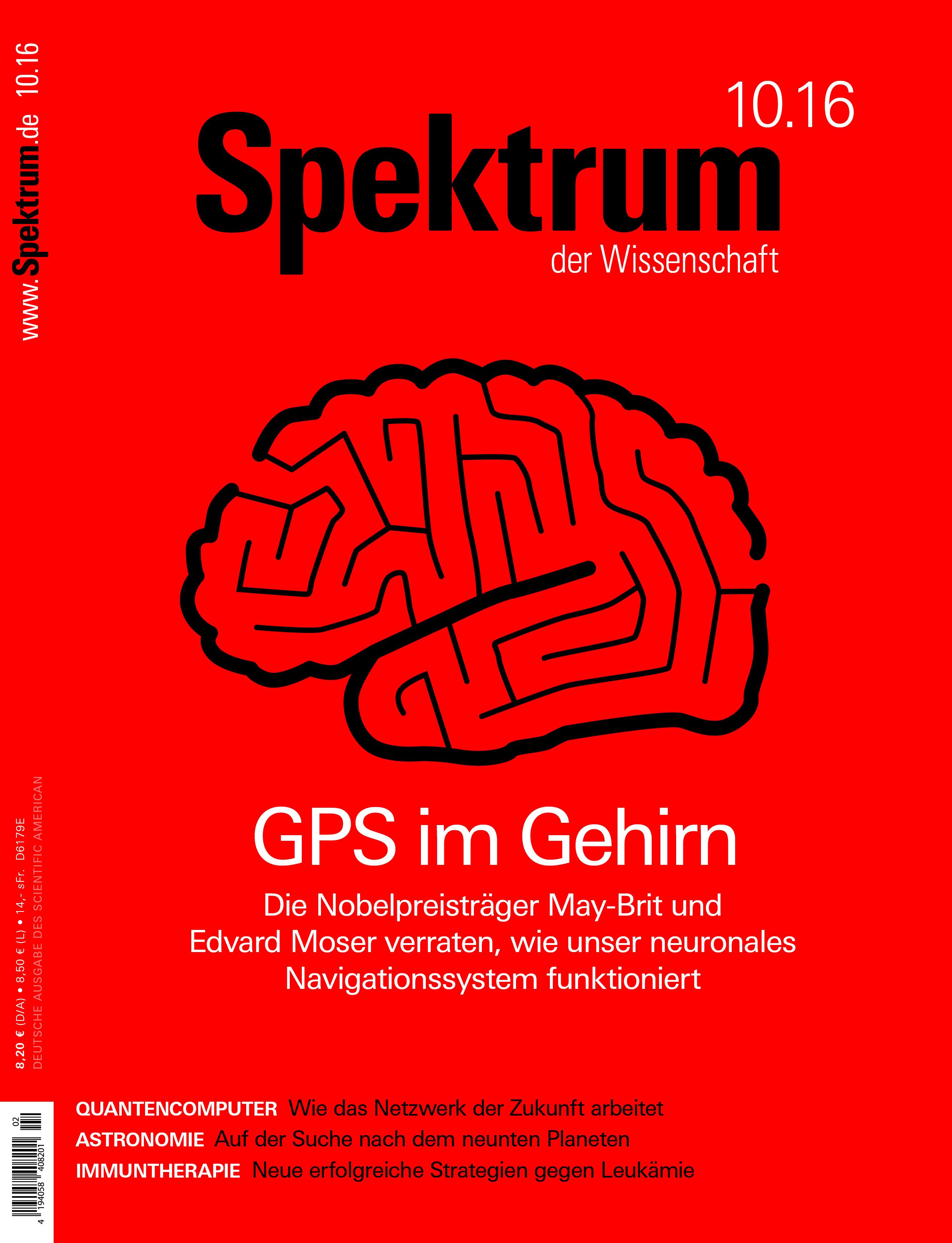 """Cover """"Spektrum der Wissenschaft"""" 10.2016"""