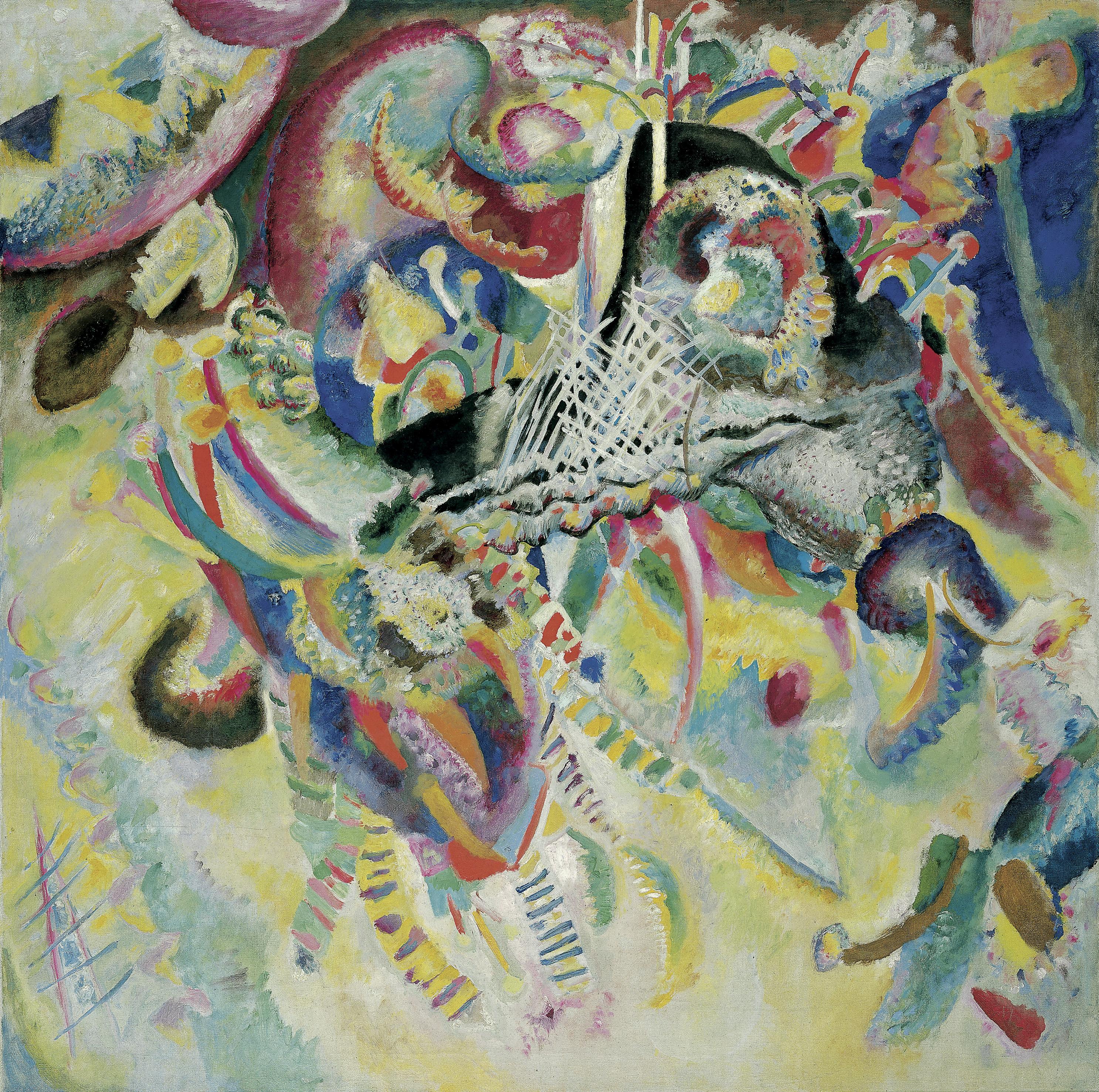 Kandinsky, Marc & Der Blaue Reiter; Vassily Kandinsky, Fuga, 1914; Öl auf Leinwand; 129,5 x 129,5 cm; Fondation Beyeler, Riehen/Basel, Sammlung Beyeler; Foto: Robert Bayer, Basel